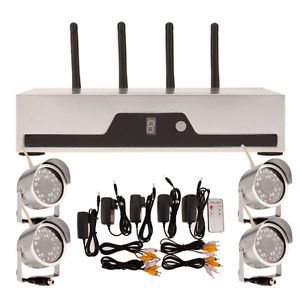 4 CH Network DVR Video Recorder Wireless Security Camera System