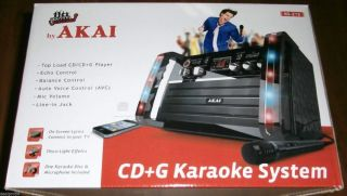New Akai KS 212 CD G Karaoke Machine w Light Effects System Singing Portable