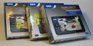 of 3 RCA RTV86073 7 Portable Widescreen HD LCD TV Digital Televisions