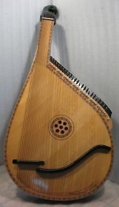 Original Ukrainian Bandura Prima 55 Strings Musical Instrument 1985 in Case