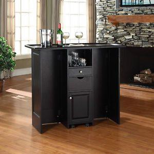 ... Crosley Newport Sliding Top Bar Cabinet Home Bars; Black Expandable  Mobile Wine Bar Cabinet Counter Furniture Decor Storage Home ...