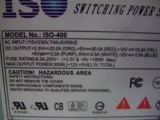 ISO ISO 400 300W Switching Power Supply Tested