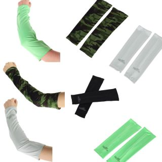 Pair Cooling Sun UV Protection Arm Sleeve Cooler Bicycle Tennis Basketball Drive