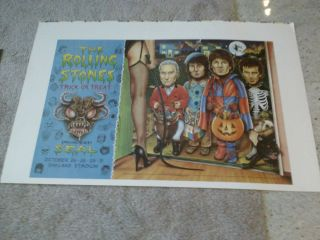 The Rolling Stones Uncut Printers Proof Sheet Concert Poster