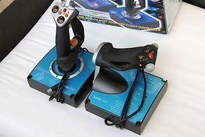 Saitek x45 USB Digital Joystick and Throttle Flight Simulator PC Game Controller
