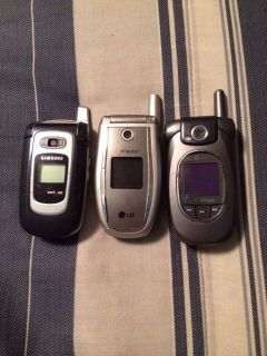Lot of LG and Samsung Flip Phones