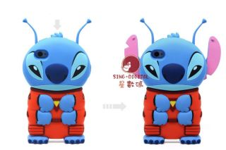 Lilo Stitch 3D Alien Walt Disney Hard Plastic Cover Back Case for I Phone 4 4S
