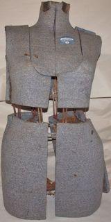 Vintage Dress Form Acme Size B Gray Sewing Decor Mannequin Adjustable