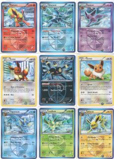 Plasma Freeze Eeveelutions Set 9 Pokemon Cards ft Umbreon Leafeon Glaceon