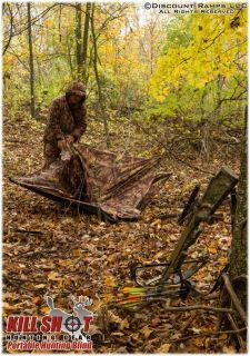 Portable Oak Camo Stealthy Hunting Ground Blind Hub Deer Duck Archery HB 904