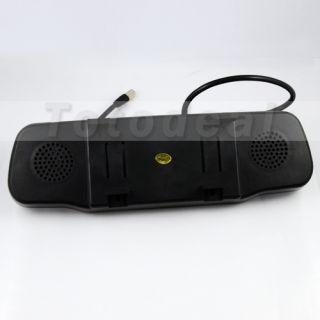 "4 3"" TFT LCD Car Rear View Backup Mirror Monitor Double Screen GPS 4 AV Input"