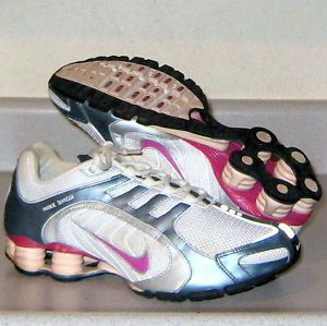 Nike Shox Navina Plus Running Tennis Shoes Womens Sz 9 5 Training Sneakers iPod
