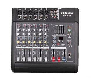 6 Channel 1000W Professional Power Mixer Amplifier PA System Karaoke Player New