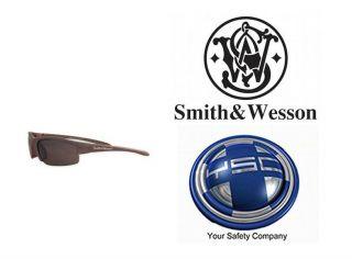 Smith Wesson Equalizer Safety Glasses Gun Metal Frame Smoke Anti Fog Lens