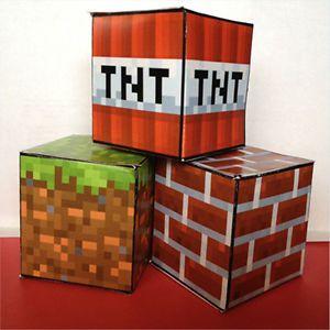 Minecraft Printable Birthday Party Favor Cube Treat Box