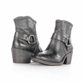 Lucky Brand Bambi Western Ankle Boot Black Size 7