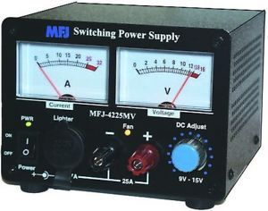 MFJ 4225mV 25AMP Switching Power Supply New