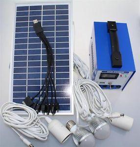 Solar Power System Panel Battery Charger LED Lights Lamp Inverter DC DC