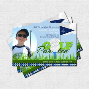Personalized Golf Par Tee Birthday Party or Retirement Invitations Printable