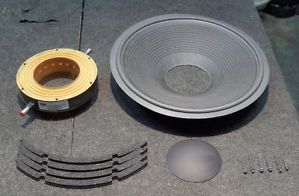 "Gauss 15"" 4583F Woofer Subwoofer Speaker Recone Kit"