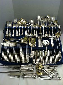 Gorham Chantilly Huge Set 268 Pcs 29 Servers Sterling Silver Flatware Set