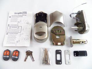 Simplicikey Srced SN 2 Remote Control Electronic Deadbolt Door Lock Satin Nicke