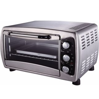 Countertop Convection Toaster Oven Bake Broil Toast Stainless Steel Cooker New