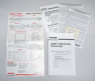 Toshiba A100 A105 Satellite Laptop Owners Instruction Manual Users Guide