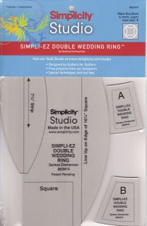 Simpli EZ Double Wedding Ring Rulers Templates by Simplicity Studio