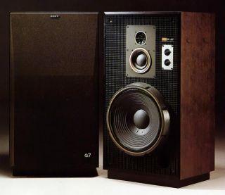 Sony SS G7 Super Mega RARE Vintage Speakers Good Shape