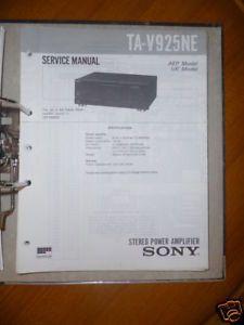 Service Manual Sony TA V925NE Amplifier Original
