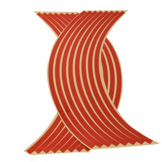 "17"" 19"" Reflective Car Motorcycle Rim Stripe Wheel Tape Decal Stickers Orange"