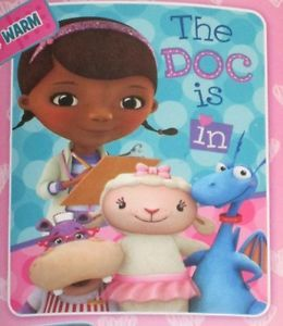 New Doc McStuffins Toy Fix Kids TV Show Plush Fleece Gift Blanket Disney Stuffy