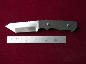 Custom Tanto Knife USA Made 1095 Micarta Scales