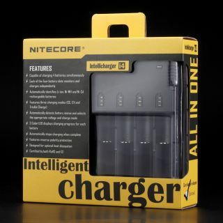 Nitecore I4 Intellicharger 4 Slot Universal Li ion Ni MH Ni CD Battery Charger