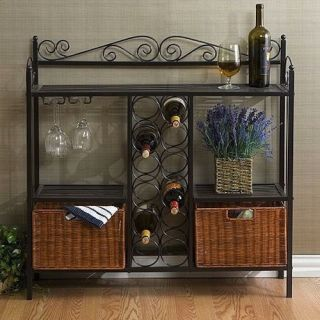 Buffet Sideboard Server Wine Cabinet Rack Scrolled Pantry Bar Dining Baskets New