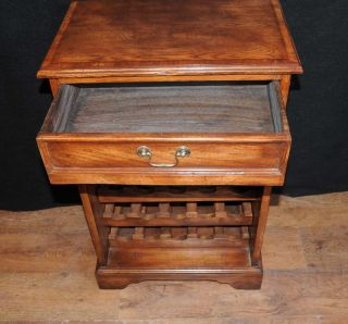 Oak Sideboard Buffet Wine Server Cabinet Cellar Farmhouse