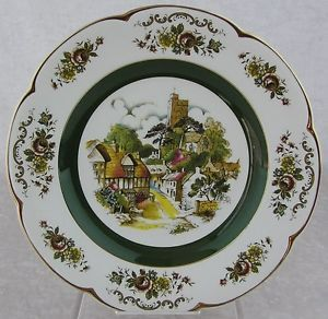 Vintage Wood Sons England Ascot Service Decorative Wall Plate Village Church