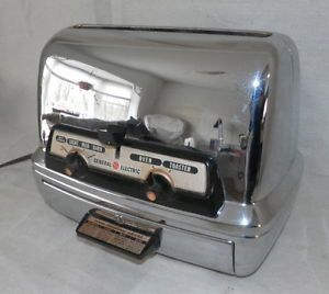 Fab 1950's General Electric GE Toaster Oven Combo Chrome Mint Vtg