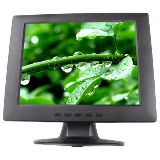 CCTV Monitor 10 4 inch TFT LCD High Resolution TV VGA RCA HDMI Input DC 12V