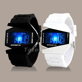 Light Digital Sports Quartz Rubber Fashion LED Wrist Watch Men's Boy's Watch