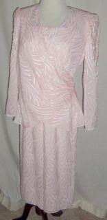 Karen Lawrence by Matthew Pink Dress Outfit Mother of Bride 8 Formal Short