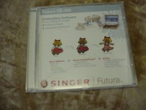 Singer Futura CE 350 Embroidery Software w Editing Software Advanced Auto Punch