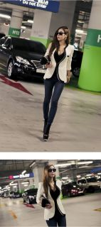 Sexy Girls Elegant Office Lady Chic Casual Short Small Jacket Suit Blazer Top