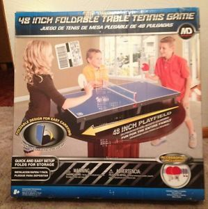 MD Sports 48 inch Foldable Table Tennis Game w Included Accessories Brand New