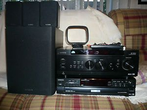 Aiwa Surround Sound Receiver 3 D Surround DVD CD Player Active Speaker System