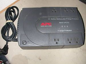 APC Back UPS ES 500 Model BE500U Battery Backup Surge Protection
