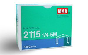 Max Staples 2115 1 4 5M 5000pcs Box for Desktop Stapler New FreeS H