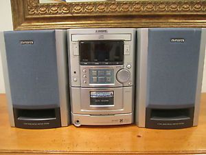 Aiwa XR M33 Micro Compact System Stereo CD Cassette Player Speakers 1998