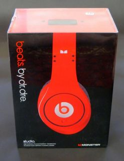 Original Genuine Beats Studio Headphones by Dre Monster Stereo Red Limited Stock